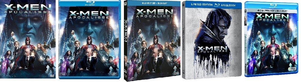 le cover homevideo di X-Men: Apocalisse
