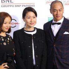 Roma 2016: Peter Yun Tung Ho, Jiang Yiyan e la produttrice Mandy Law al photocall di Sword Master
