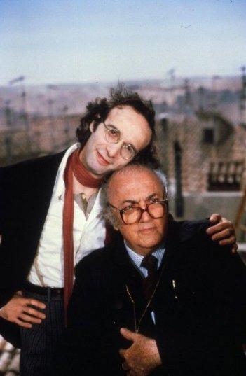 Fellini e Benigni sul set de La voce della Luna