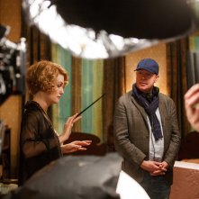 Fantastic Beasts and Where to Find Them: Alison Sudol e David Yates sul set