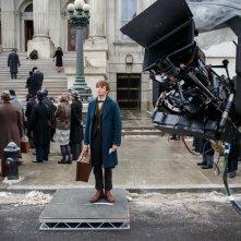 Fantastic Beasts and Where to Find Them: l'attore Eddie Redmayne sul set