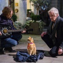 A spasso con Bob: Luke Treadaway e Roger Spottiswoode in una scena del film