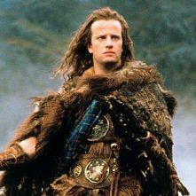 Christopher Lambert in una scena di Highlander