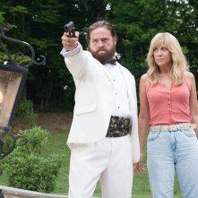Masterminds - I geni della truffa: Zach Galifianakis e Kristen Wiig in una scena del film