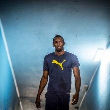 I Am Bolt: un'immagine del documentario che ritrae il grande velocista