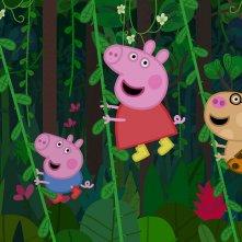 Peppa Pig in giro per il mondo: un'immagine tratta dalla serie animata