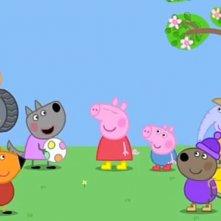 Peppa Pig in giro per il mondo: un'immagine della serie animata