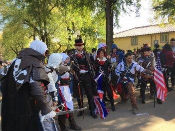 Lucca 2016: Cosplayers di Assassin's Creed alla fiera toscana