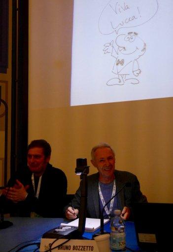 Bruno Bozzetto, Marco Bonfanti e il signor Rossi a Lucca Comics & Games