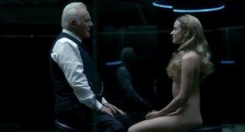 Westworld: Anthony Hopkins e Evan Rachel Wood in una scena del quinto episodio Contrapasso