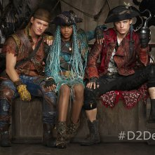 Descendants 2: una foto di Dylan Playfair, China Anne McClain e Thomas Doherty