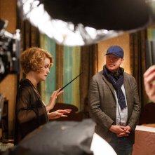 Animali Fantastici e Dove Trovarli: Alison Sudol e David Yates sul set del film