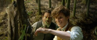 Animali Fantastici e Dove Trovarli: una foto degli attori Dan Fogler ed Eddie Redmayne