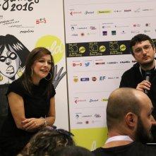 Lucca 2016: Marina Sirtis al Press Cafè