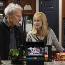 Sully: Clint Eastwood e Laura Linney sul set del film