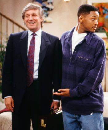 Donald Trump e Will Smith in Willy, il Principe di Bel Air