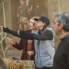 The Zookeeper's Wife: Jessica Chastain e la regista Niki Caro sul set