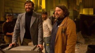 Free Fire: Armie Hammer con il regista Ben Wheatley sul set del film