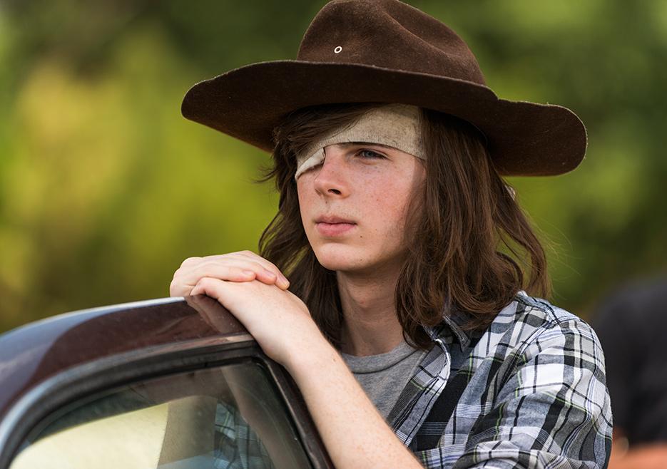 The Walking Dead: l'attore Chandler Riggs nell'episodio Go Getters