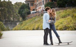 Slam - Tutto per una ragazza: Ludovico Tersigni e Barbara Ramella in una scena del film