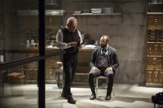 Westworld: gli attori Anthony Hopkins e Jeffrey Wright in Trace Decay