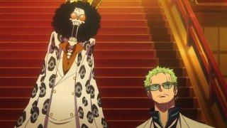 One Piece Gold: lo scheletro Brook in un immagine del film