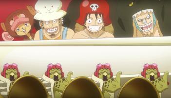 One Piece Gold: una divertente immagine del film