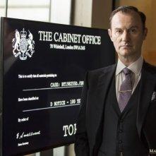 Sherlock: Mark Gatiss in una foto della quarta stagione