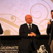Mister Felicità: uno scatto di Alessandro Siani presenta il film alla convention di 01 distribution a Sorrento