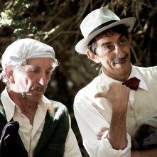 La stoffa dei sogni: Sergio Rubini e Nicola Di Pinto in una scena del film