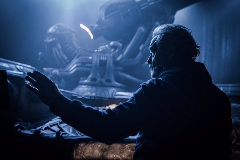 Alien: Covenant - Ridley Scott sul set del film