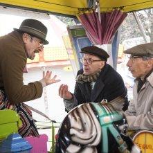 Fuga da Reuma Park: Giovanni Storti, Giacomo Poretti e Aldo Baglio in un momento del film