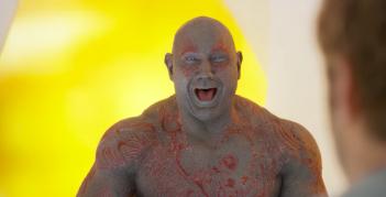 Guardiani della galassia Vol.2: Un immagine di Drax che ride