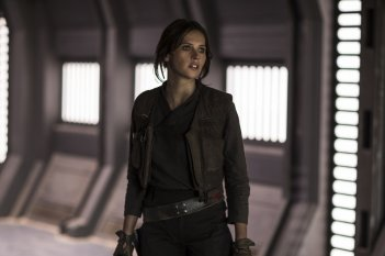 Rogue One: A Star Wars Story, Felicity Jones in un'immagine tratta dal film