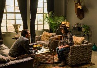 The Walking Dead: gli attori Jeffrey Dean Morgan e Chandler Riggs in Tu sei il mio sole