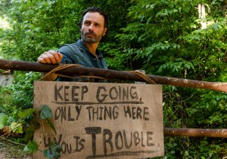 The Walking Dead: Andrew Lincoln in una foto dell'episodio Tu sei il mio sole