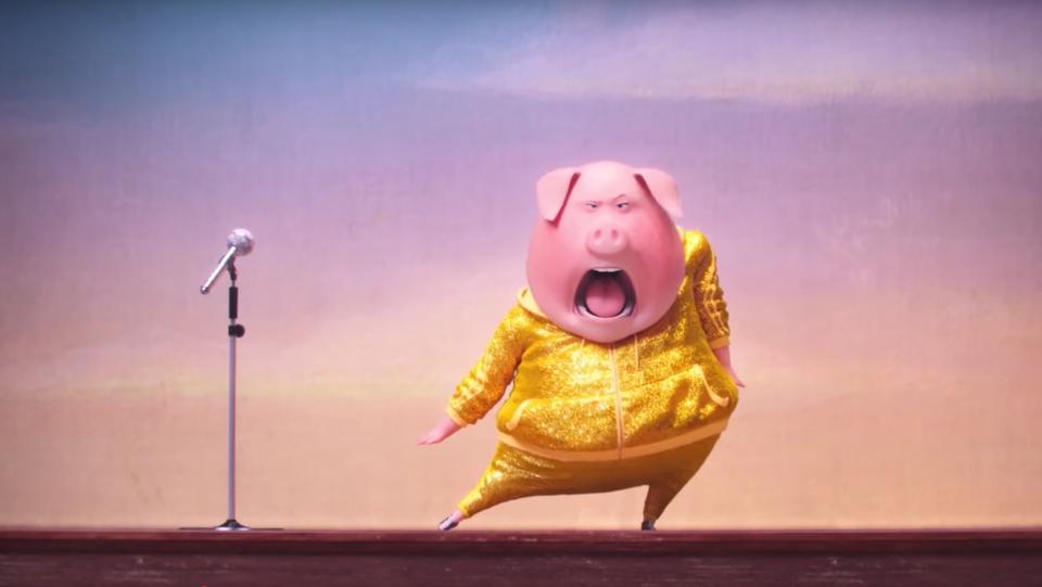 Sing: l'esibizione di Gunter