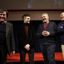 Il permesso – 48 ore fuori, Claudio Amendola e Giacomo Ferrara al Noir in Festival insieme al produttore CLaudio bonivento e al direttore del festival Giorgio Gosetti