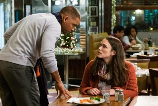 Collateral Beauty: Will Smith e Keira Knightley in una scena del film