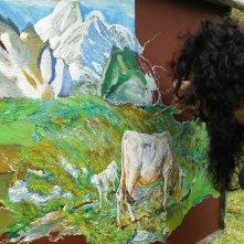 Segantini - Ritorno alla natura: Filippo Timi dipinge in un momento del documentario