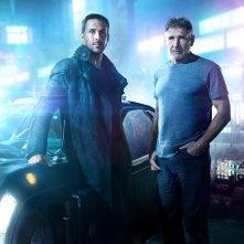 Blade Runner 2049: una foto dei protagonisti Harrison Ford e Ryan Gosling