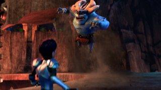 Trollhunters: una scena d'azione della serie animata