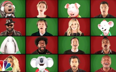 "Jimmy Fallon, Paul McCartney e ""Sing"" Cast Perform ""Wonderful Christmastime"" (A Cappella)"