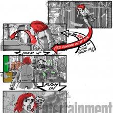 Okja: lo storyboard di una scena che coinvolge Lily Collins