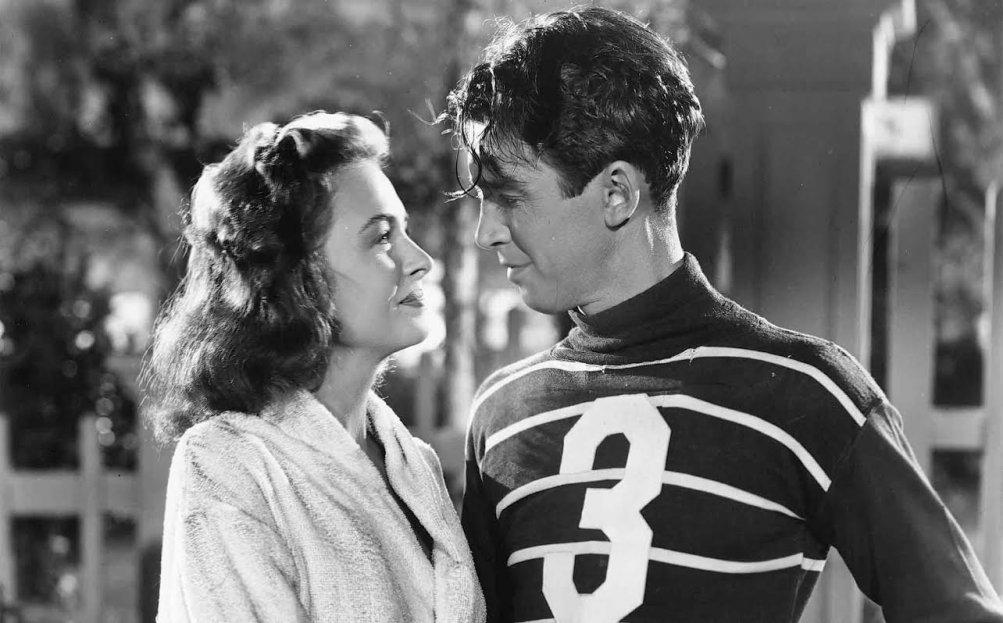 La vita è meravigliosa: una scena con Donna Reed e James Stewart