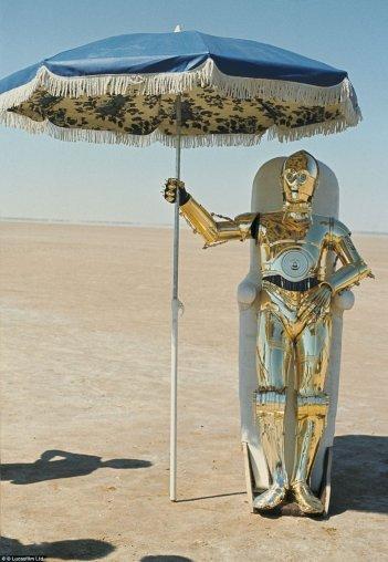 Anthony Daniels sul set di Star Wars