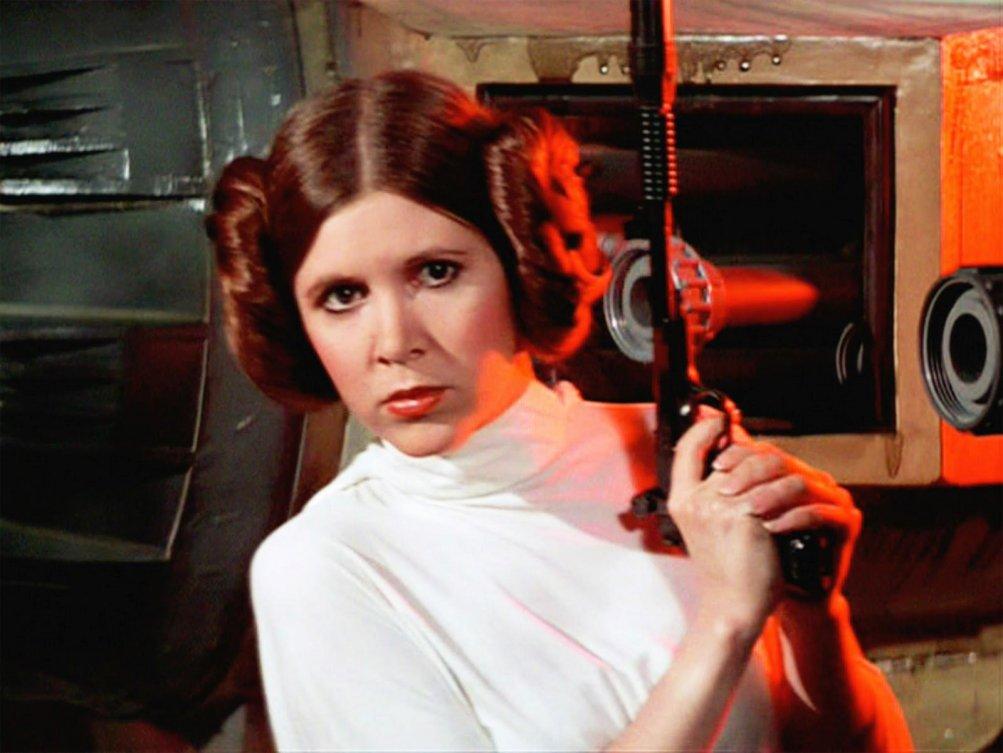 Carrie Fisher nella saga di Star Wars