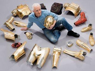 Anthony Daniels e la sua armatura da C-3PO