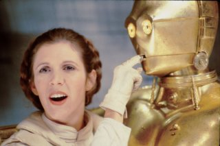 Guerre stellari: Carrie Fisher insieme al droide C-3PO