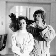 Guerre stellari: Carrie Fisher e Mark Hamill sul set